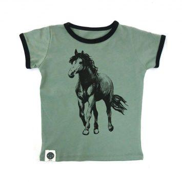 טי רטרו סוס | ירוק בהיר