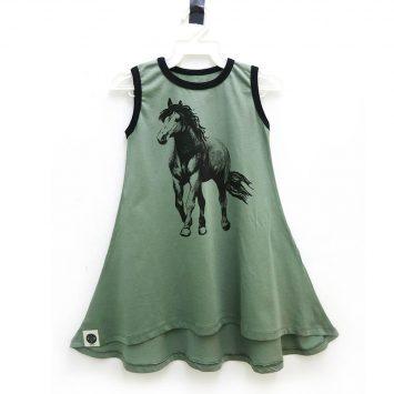 שמלת גופיה סוס | ירוק