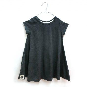 שמלת סווינג סטון ווש | אפור כהה