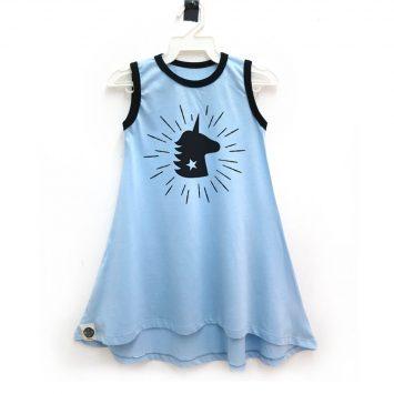 שמלת גופיה יוניקורן תכלת