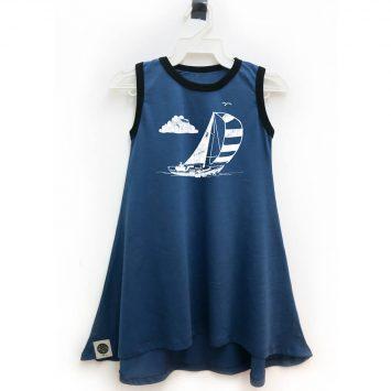 שמלת גופיה סירה כחול ג׳ינס