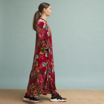 שמלת קטיפה בבושקה | בורדו