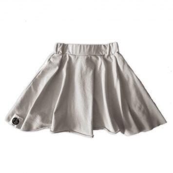 חצאית סווינג אפור