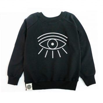סווטשירט עין | שחור