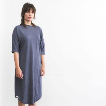 שמלת כיס אפור פלדה