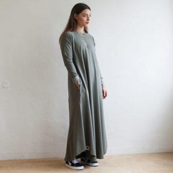 שמלת סווטשירט | ירוק צבא