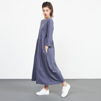 שמלת רוח אפור פלדה