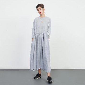 שמלת רוח אפור מלאנז'