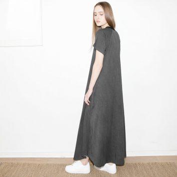 שמלת סטון וואש | שחור