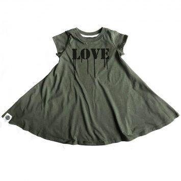 שמלת סווינג LOVE