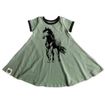 שמלת סווינג רטרו סוס