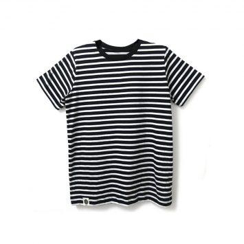 חולצת פסים כמו שצריך שחור | שרוול קצר