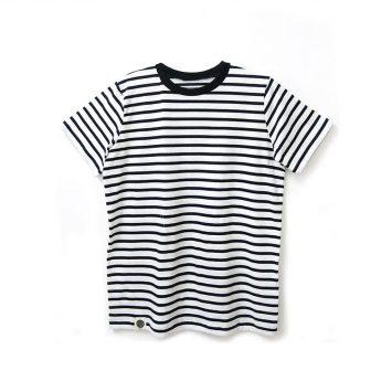 חולצת פסים כמו שצריך לבן | שרוול קצר