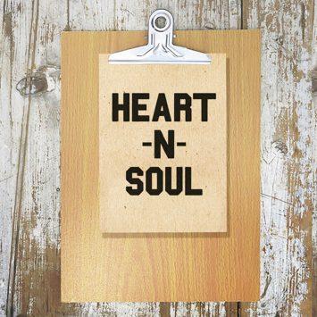 מיני פוסטר A5 | heart&soul