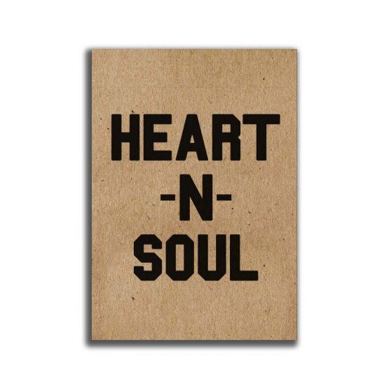 מיני פוסטר A5 -heart&soul