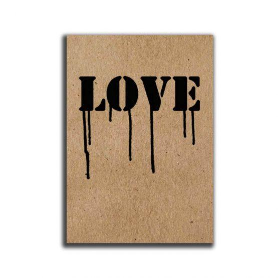 מיני פוסטר A5 -Love