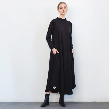 שמלת סווטשירט שחורה🖤
