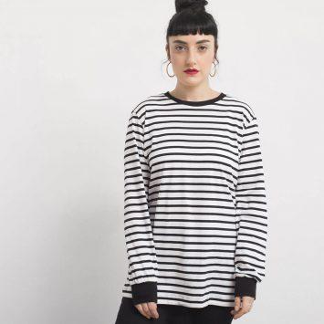 חולצת פסים כמו שצריך | לבן