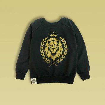 סווטשירט אריה שחור