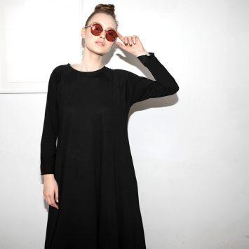 חדש!! שמלת סווינג PLUS | שחור