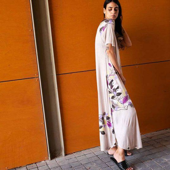 שמלת מקסי ענף פרחוני