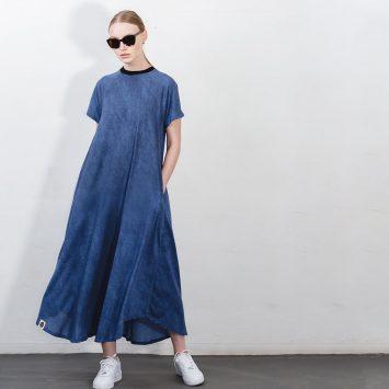 שמלת סטון וואש כחולה