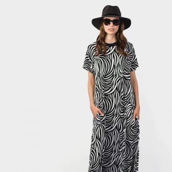 שמלת מקסי ספארי