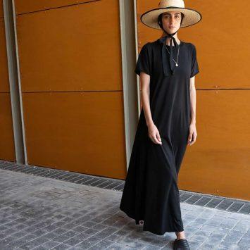 שמלת סווינג מקסי שחור