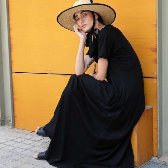 שמלת סווינג 100% כותנה🖤 | שחור
