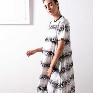 שמלת מקסי סטנסיל