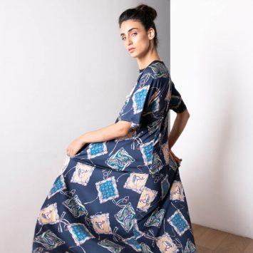 שמלת מקסי בנדנה