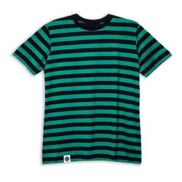 חולצת פסים כמו שצריך | ירוק שחור