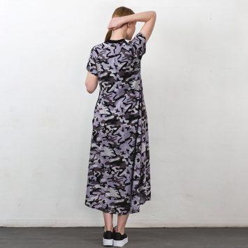 חדש!! שמלת מקסי קמופלאז' PLUS | אפור