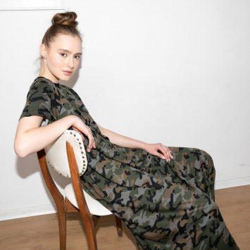 שמלת מקסי קמופלאז׳