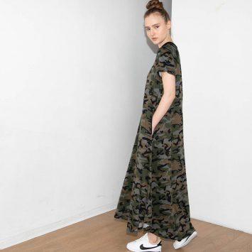 חדש!! שמלת מקסי קמופלאז' PLUS