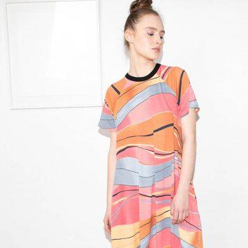 שמלת מקסי אבסטרקט