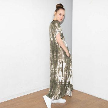 שמלת טאי-דאי חאקי