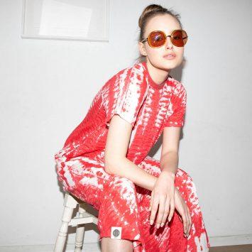 שמלת טאי-דאי אדום
