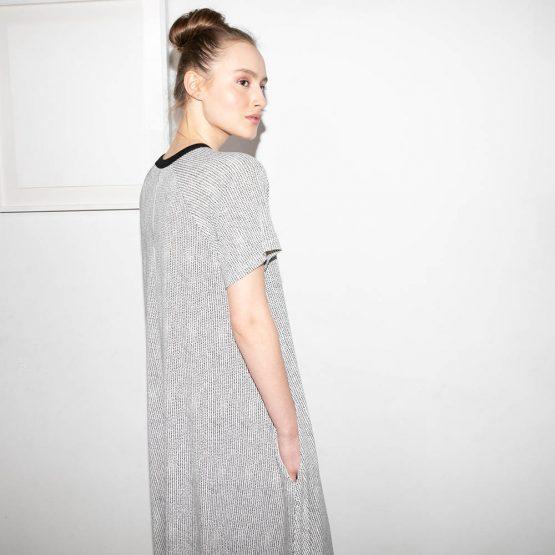 שמלת מקסי עלים