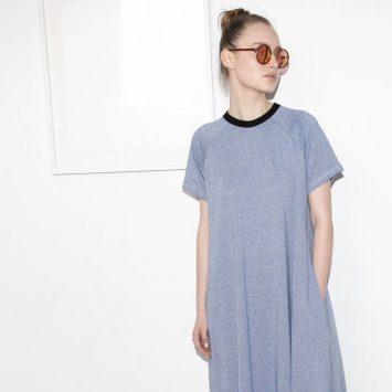 שמלת מקסי ייצוגית כחולה