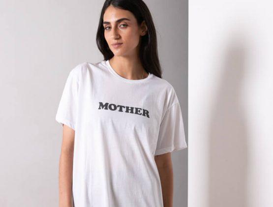 טי נשים MOTHER | לבן