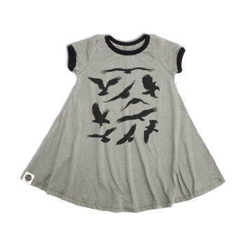 שמלת סווינג רטרו ציפורים