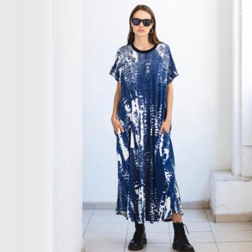 שמלת טאי-דאי כחול