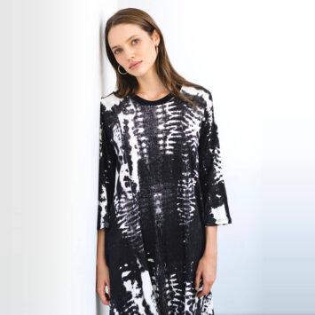 שמלת טאי-דאי שחור