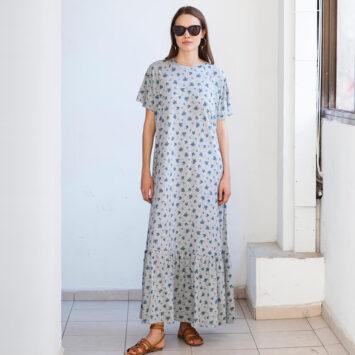 שמלת מקסי נף-נף זִיכְריני מלאנז'