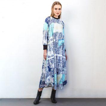 שמלת מקסי אמנות מודרנית🔥