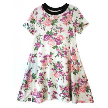 שמלת A פרחונית מנטה