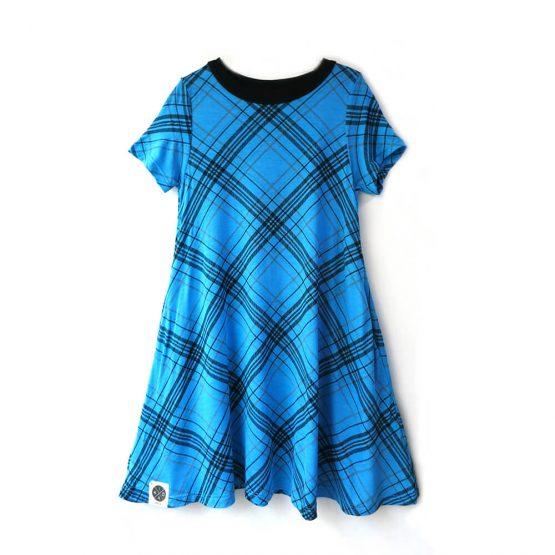 שמלת A משבצות
