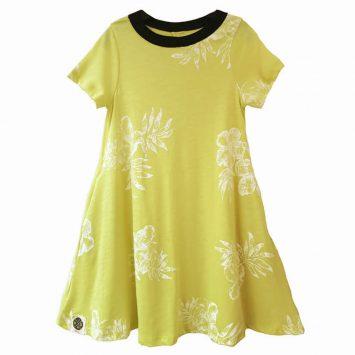 שמלת A צהוב וינטג'