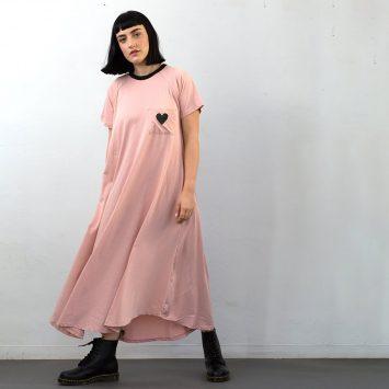 שמלת טי שירט ורודה🖤